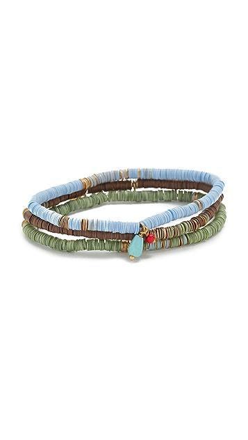 Chan Luu Green Mix Beaded Bracelets