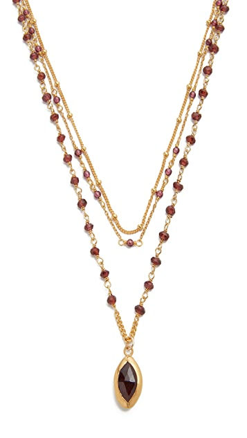 Chan Luu Garnet Layered Necklace