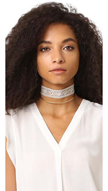 Chan Luu Embellished Choker Necklace