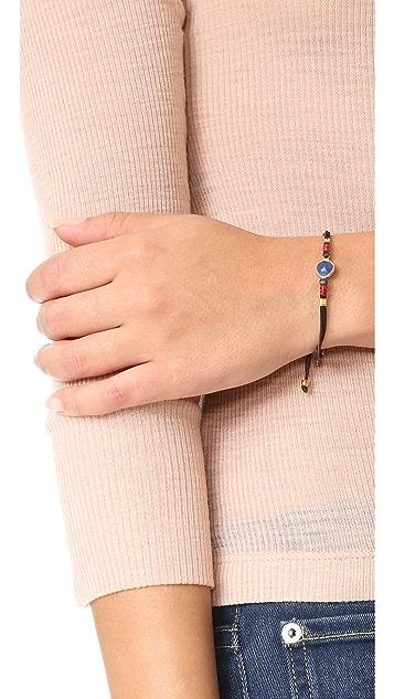 Chan Luu Sapphire Pull Tie Leather Bracelet