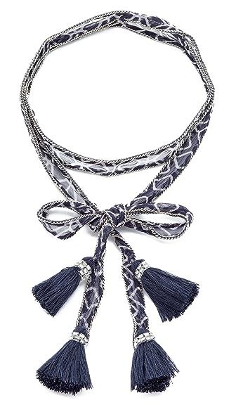 Chan Luu Tassel Chiffon Convertible Necktie