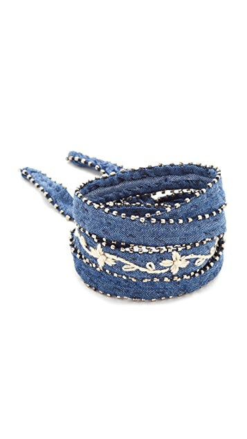 Chan Luu Embroidered Convertible Choker Necklace