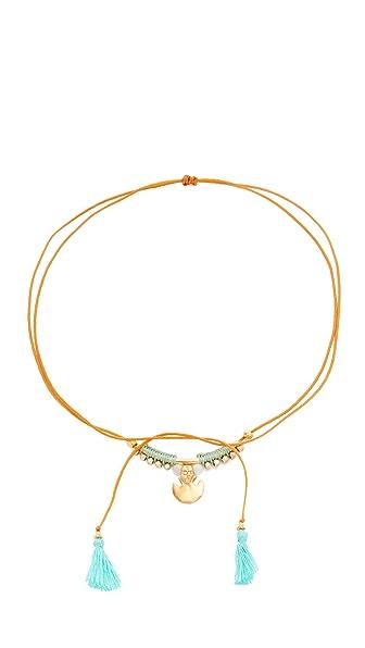 Chan Luu Pull Cord Necklace In Aqua Mix