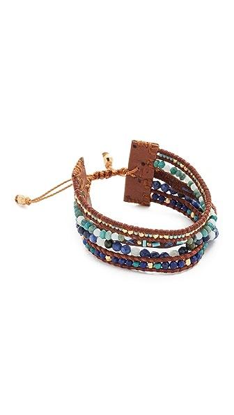 Chan Luu Multi Strand Pull Tie Bracelet - Turquoise Mix