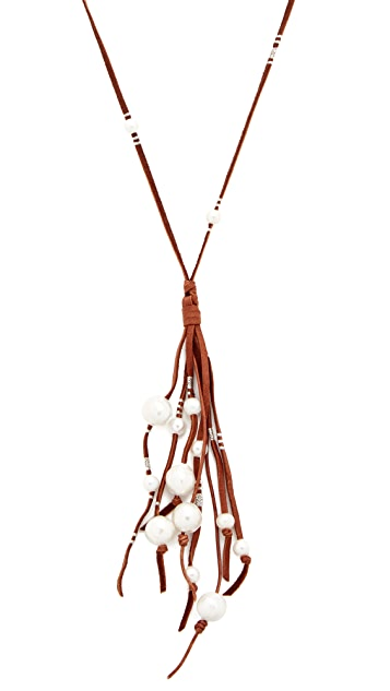 Chan Luu Suede Fringe Necklace