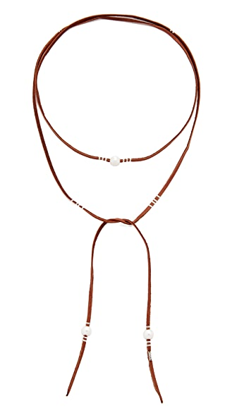 Chan Luu Pearl Wrap Necklace