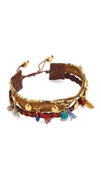 Chan Luu Braided Leather Bracelet - Multi Mix
