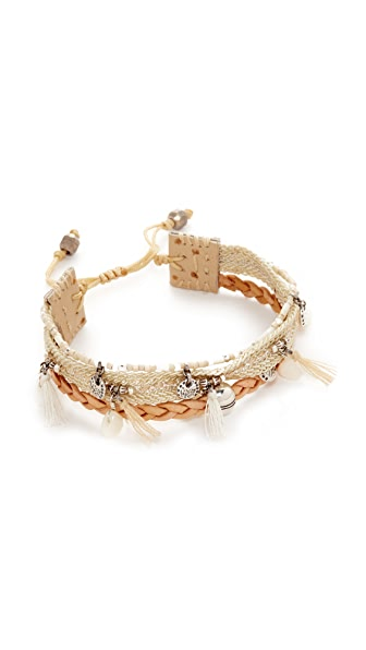 Chan Luu Braided Leather Bracelet - Natural Mix