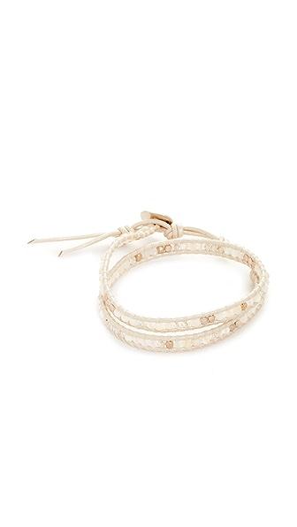 Chan Luu Double Wrap Bracelet - White Mix