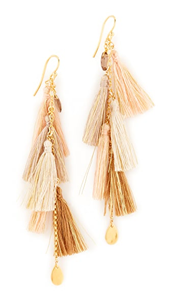 Chan Luu Chain Tassel Earrings
