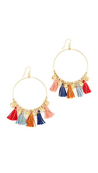 Chan Luu Hoop Earrings - Multi Mix