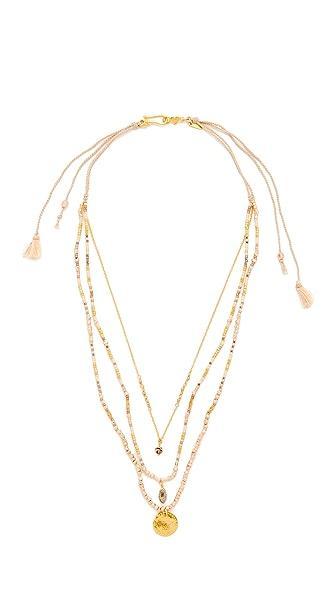 Chan Luu Multi Strand Necklace - Pink Mix