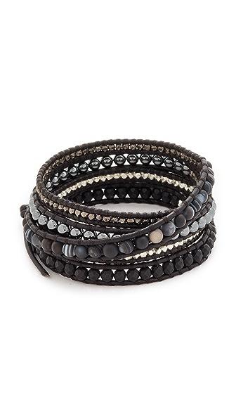 Chan Luu Wrap Bracelet - Matte Black Sardonyx Mix