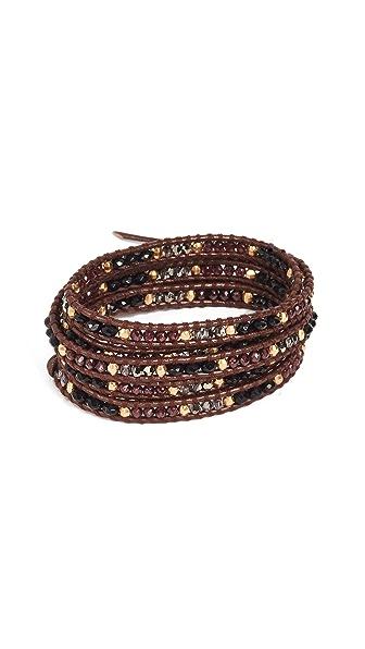 Chan Luu Wrap Bracelet In Garnet Mix