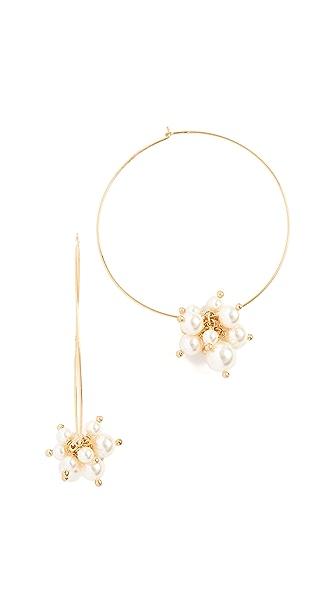 Chan Luu Cream Imitation Pearl Earrings In Cream Pearl