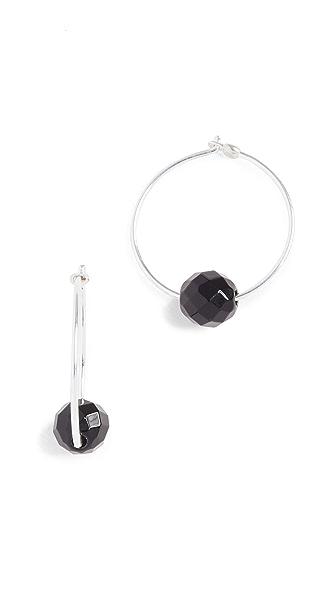 Chan Luu Onyx Earrings In Onyx