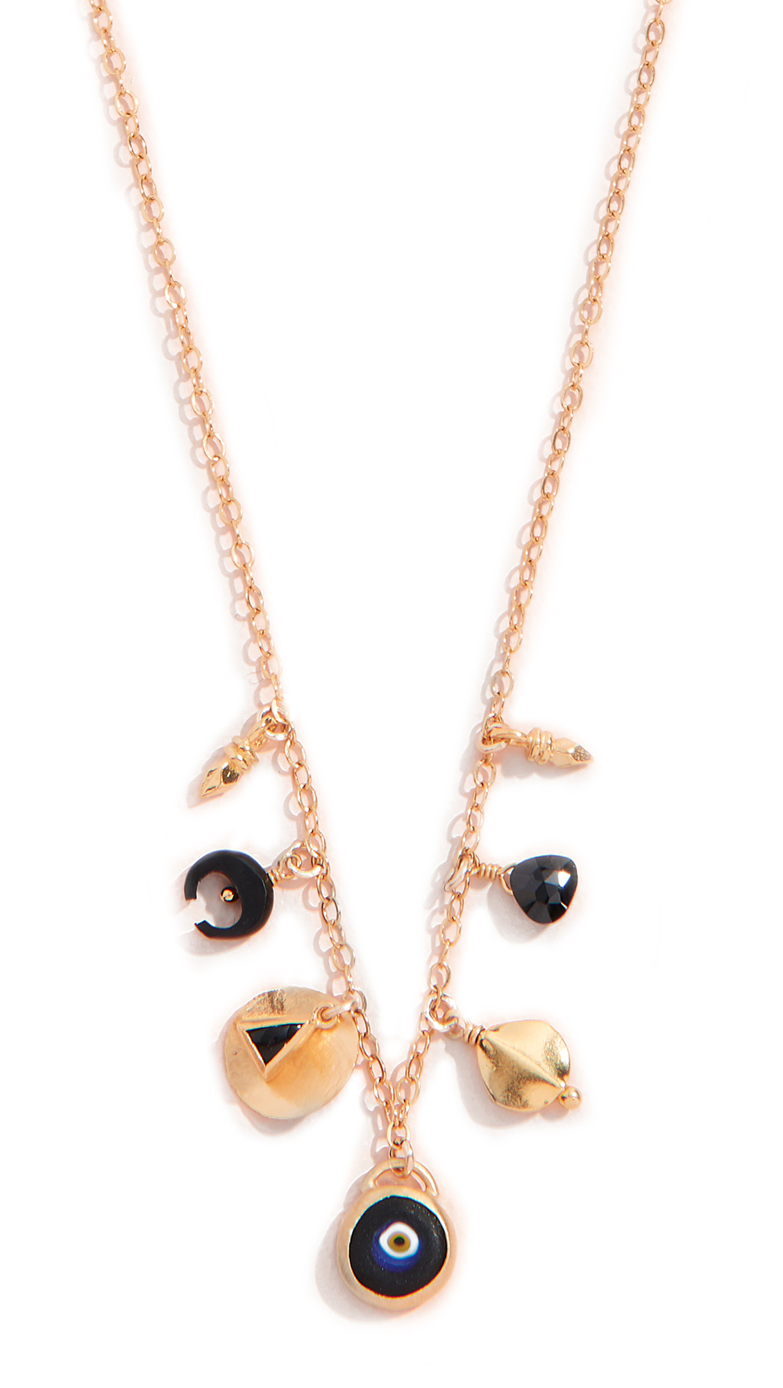 CHAN LUU SHORT NECKLACE WITH MIXED CHARMS