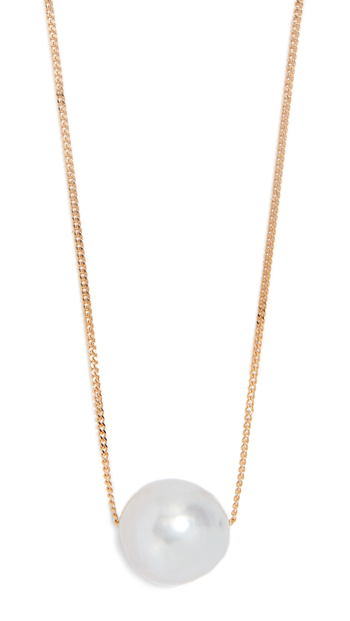 CHAN LUU Grey Cultured Pearl Necklace in Grey Pearl