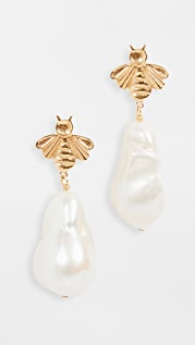 Chan Luu Natural White Pearl Drop Earrings
