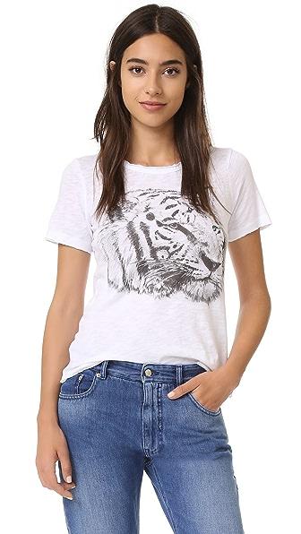 Chaser Футболка с эскизным изображением тигра