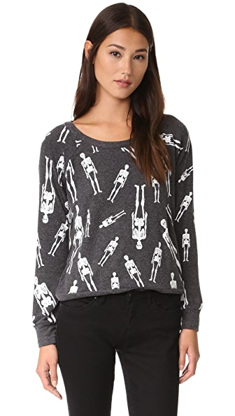 Chaser Skellington Sweatshirt - Black