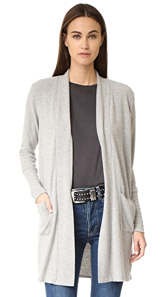 Chaser Long Slouchy Cardigan - Heather Grey