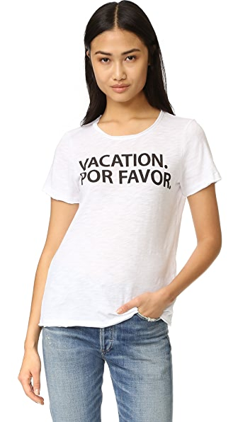 Chaser Vacation Por Favor Tee - White