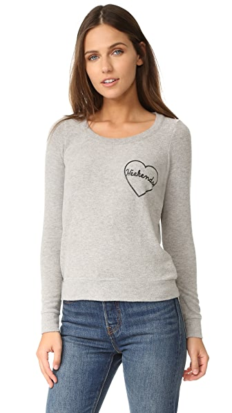 Chaser Weekend Love Sweatshirt - Heather Grey