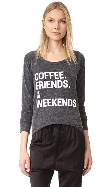 Chaser Weekend Coffee Tee - Black