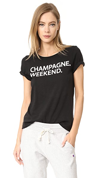 Chaser Champagne Weekend Tee