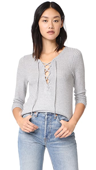 Chaser Long Sleeve Lace Up Tee