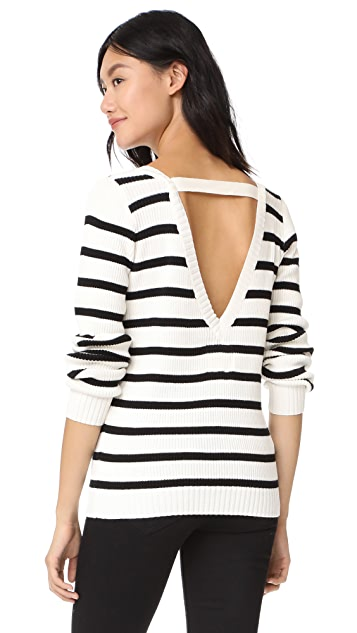 Chaser Long Sleeve V Back Pullover