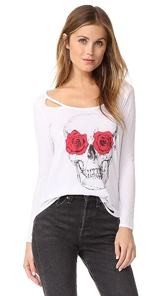 Chaser Rose Eyes Skull Top