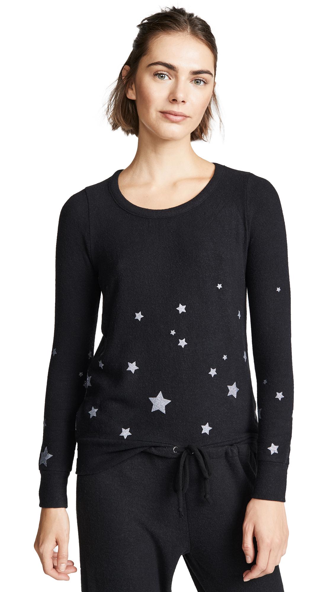 Chaser Starry Black Sweatshirt In True Black