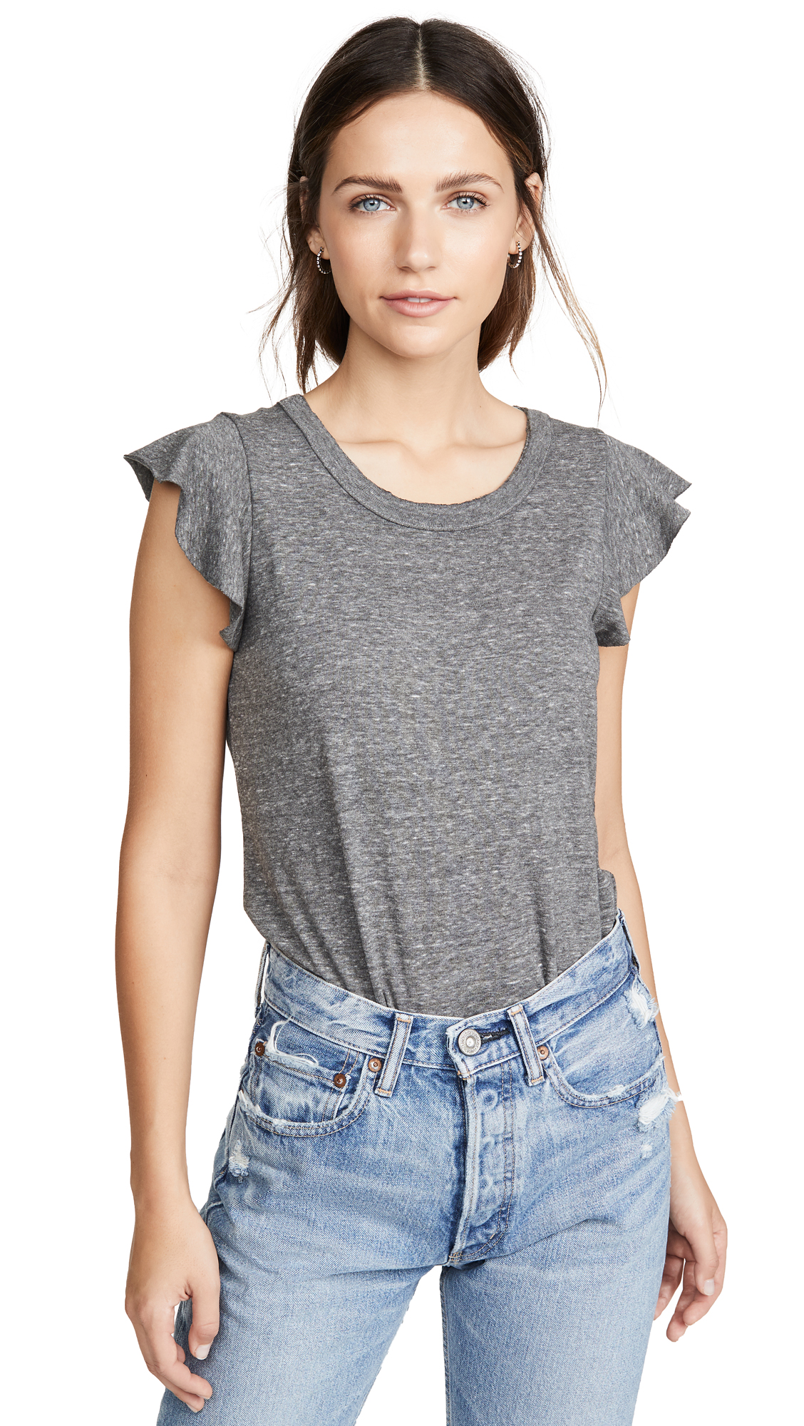 Buy Chaser online - photo of Chaser Flutter Sleeve Shirttail Tee