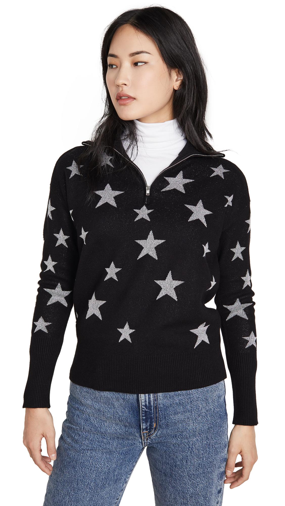 Buy Chaser online - photo of Chaser Star Intarsia Drop Shoulder Funnel Neck Pullover