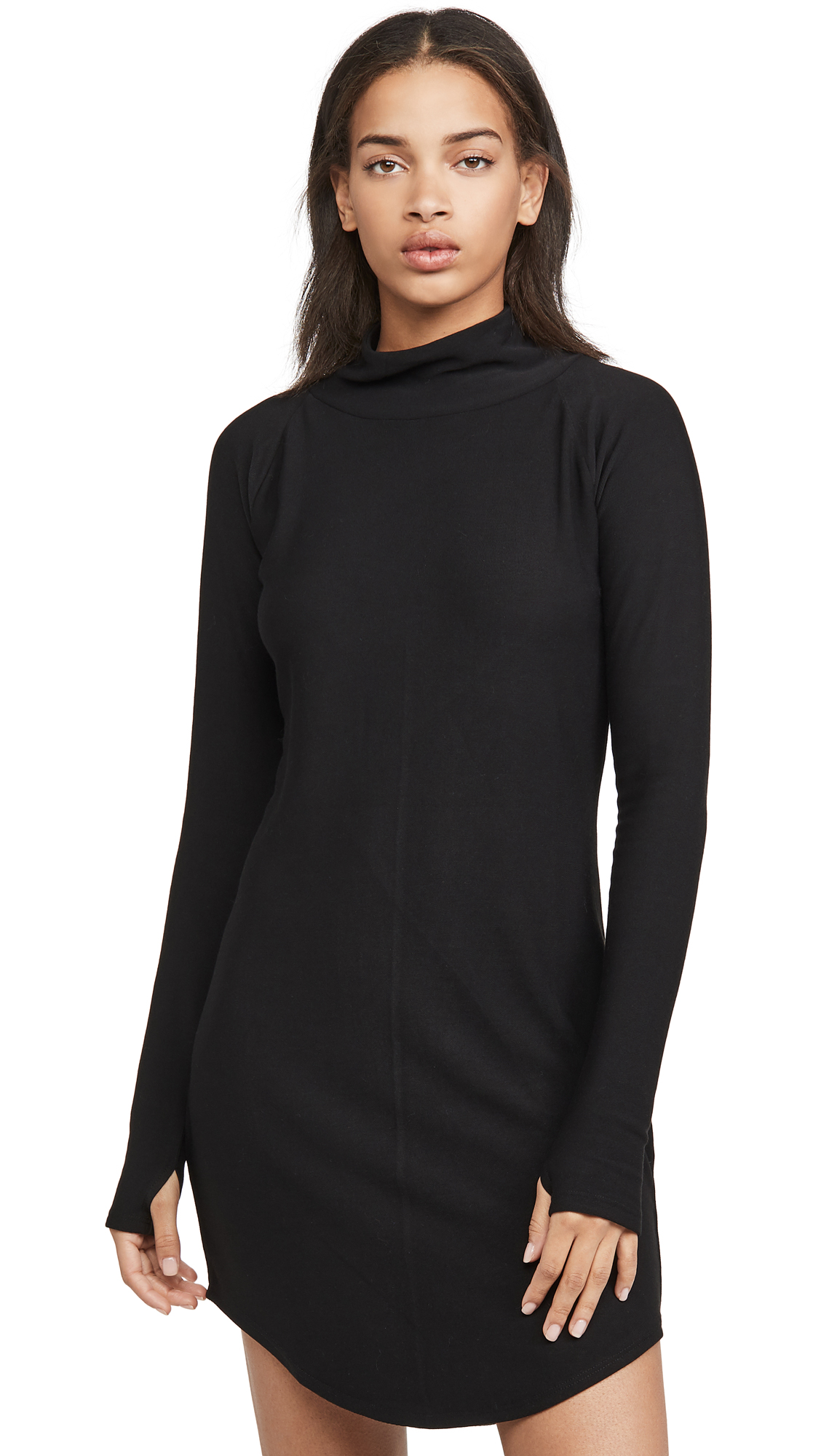 Chaser Cozy Knit Long Sleeve Raglan Turtleneck Mini Dress - 30% Off Sale