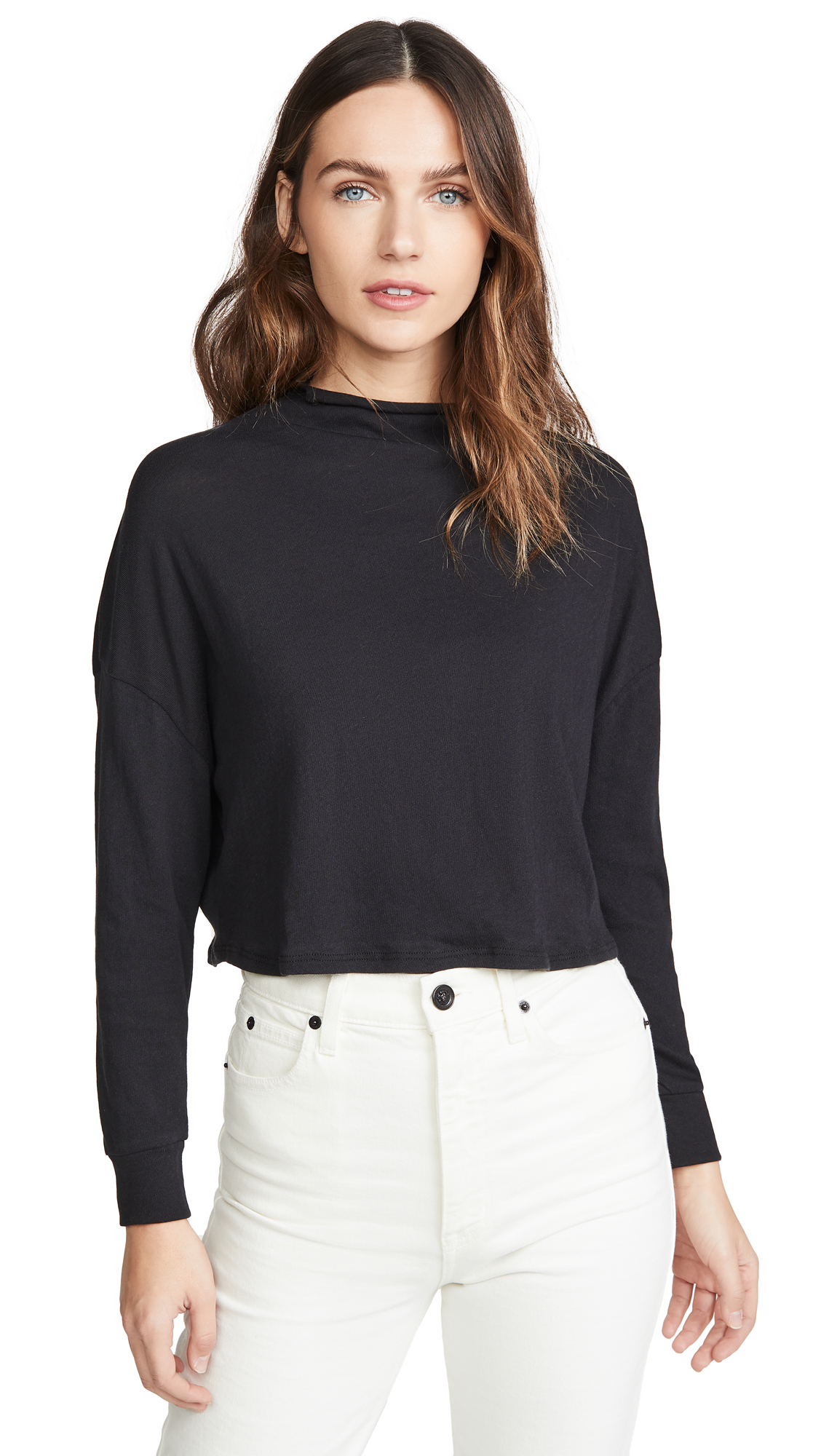 Buy Chaser online - photo of Chaser Gauzy Cotton Crop Dolman Tee