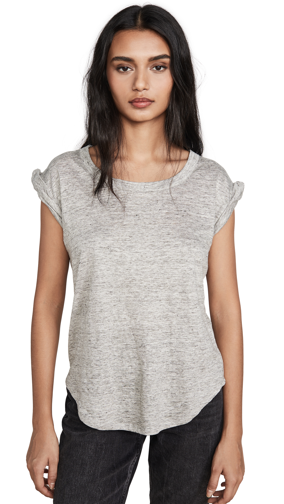 Buy Chaser online - photo of Chaser Twisted Sleeve Scoop Neck Tee