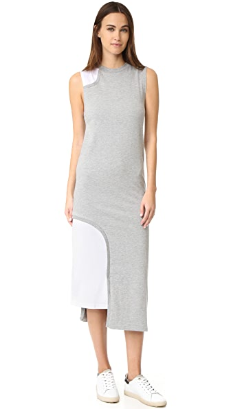 Cheap Monday Panel Dress - Grey Melange