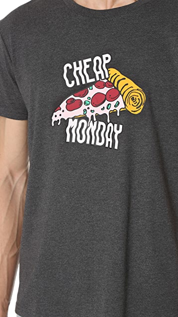 Cheap Monday Pizza Logo Tee