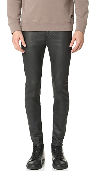 Cheap Monday Him Spray Shine Coated Jeans