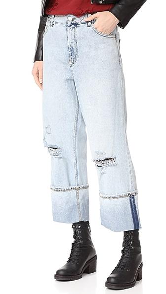 Cheap Monday Unisport Jeans In Drain Blue