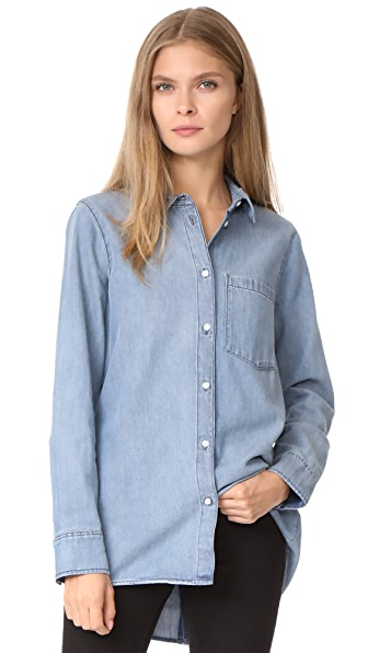 Cheap Monday Behave Denim Shirt - Thrift Blue