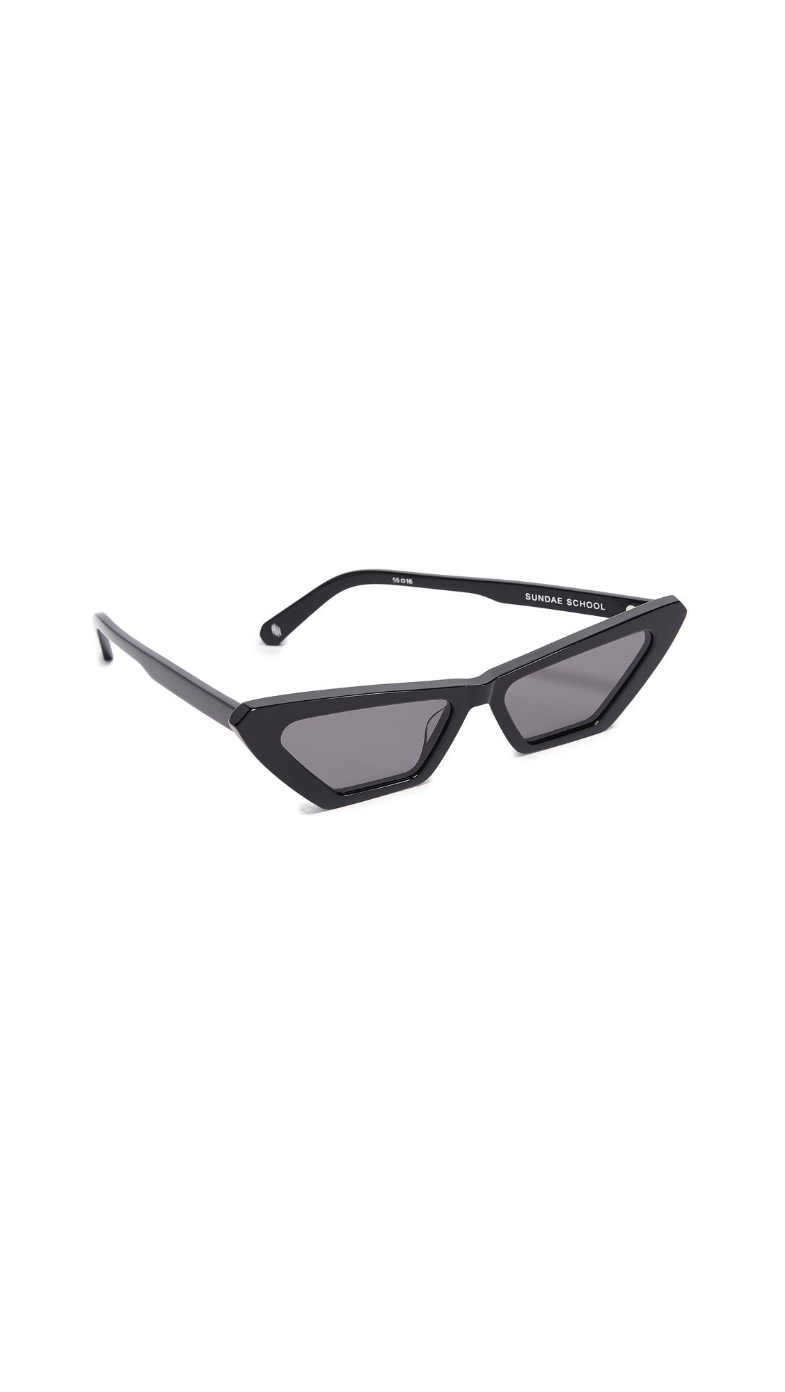 CHIMI X Sundae School Square Sunglasses in Black