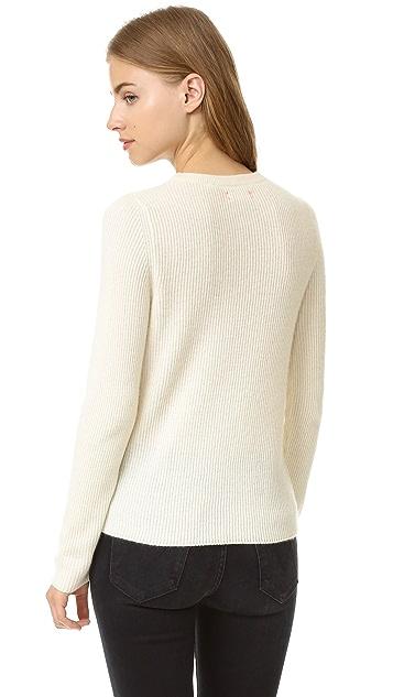Chinti and Parker Ruffle Stripe Sweater