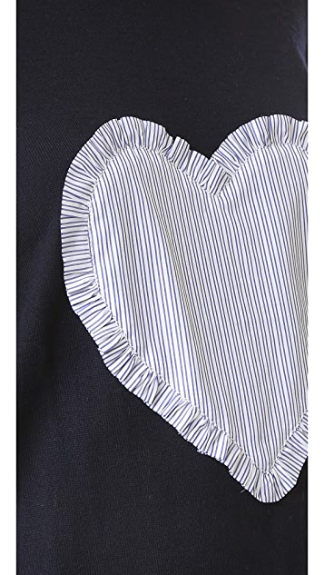 Chinti and Parker Big Heart Sweater