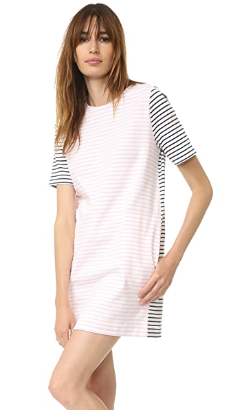 Chinti and Parker Breton Dress - Off White/Blossom/Navy