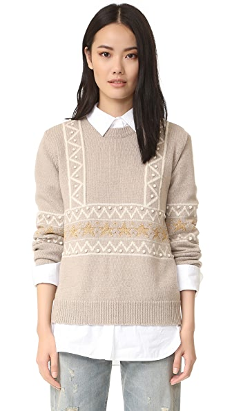 Chinti and Parker Star Border Sweater