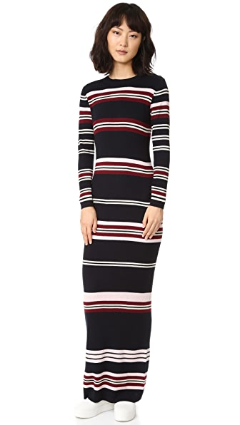 Chinti and Parker Rib Striped Long Dress